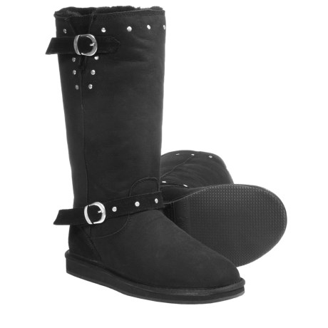 Aussie Dogs Rocker Tall Boots - Shearling Lined (For Women)