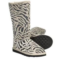 Aussie Dogs Zebra Sheepskin Boots (For Women)
