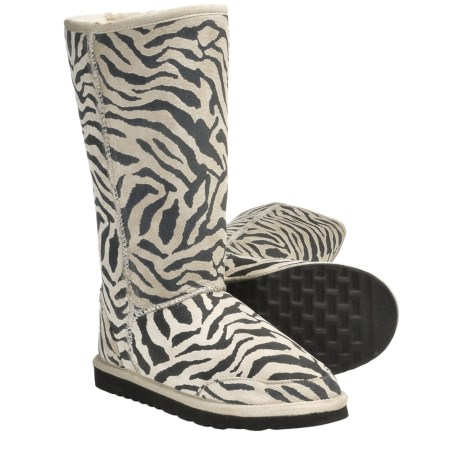 Aussie Dogs Zebra Sheepskin Boots (For Women)