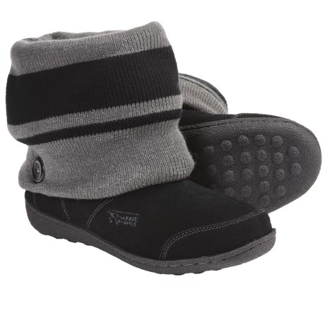 Aussie Dogs Beanie Shearling-Lined Boots (For Women)