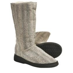 Aussie Dogs Leopard Sheepskin-Lined Boots (For Women)