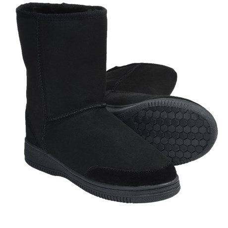 Aussie Dogs Plush Suede Boots - Shearling Lined (For Men and Women)