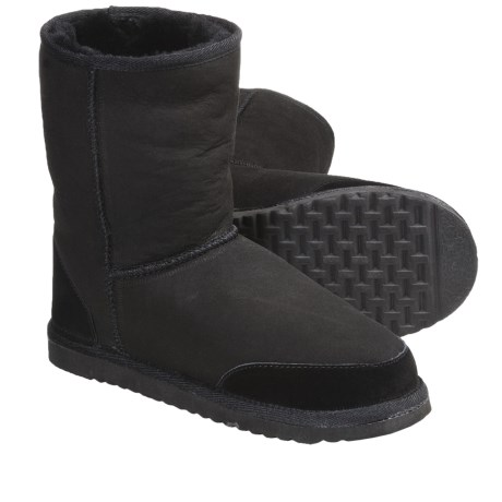 Aussie Dogs Styler Short Shearling-Lined Boots - Suede (For Men and Women)