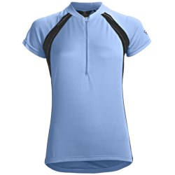 Canari Spiral Cycling Jersey - Zip Neck, Short Sleeve (For Women)