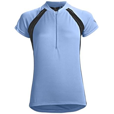 Canari Spiral Cycling Jersey - Zip Neck, Short Sleeve (For Women)