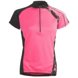 Canari Allure Cycling Jersey - Zip Neck, Short Sleeve (For Women)