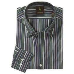 Tailorbyrd Donjay Multi-Stripe Shirt - Hidden Button Down, Long Sleeve (For Men)