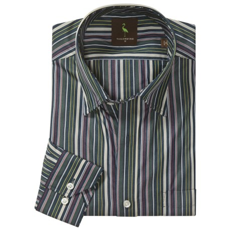 Tailorbyrd Donjay Multi-Stripe Shirt - Hidden Button Down, Long Sleeve (For Men)