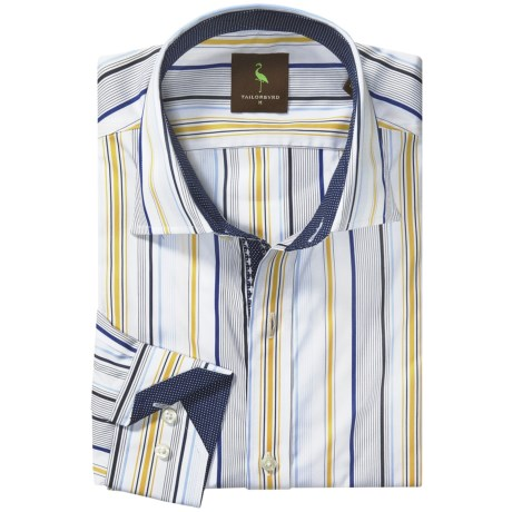 Tailorbyrd Donjay Multi-Stripe Shirt - Spread Collar, Long Sleeve (For Men)