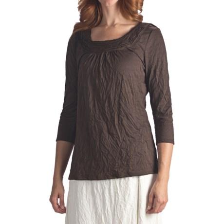 Two Star Dog Nicolette Crinkle Jersey Shirt - 3/4 Sleeve (For Women)