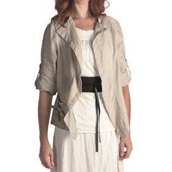 Two Star Dog Murielle Linen Jacket - 3/4 Sleeve (For Women)