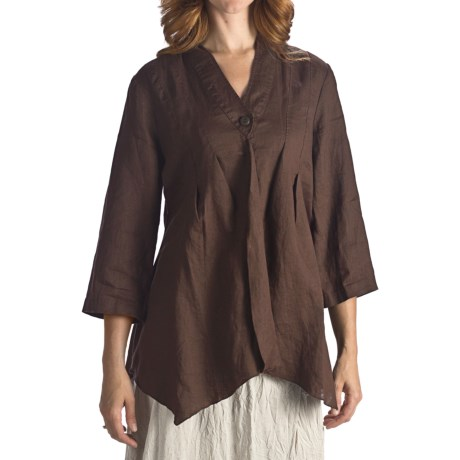 Two Star Dog Willa Linen Shirt Jacket - 3/4 Sleeve (For Women)