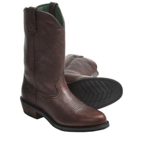 "John Deere Footwear 12"" Wellington Work Boots - Slip-Ons, Oiled Leather (For Men)"