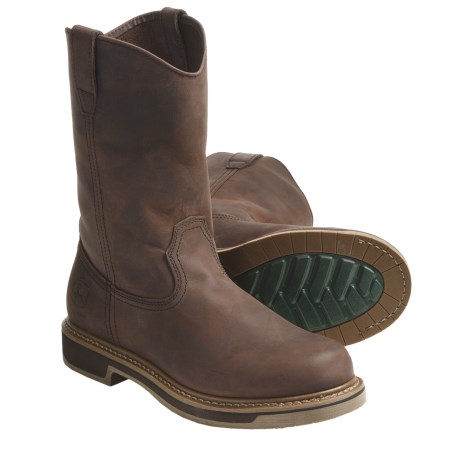 John Deere Footwear 10'' Nutty Mule Work Boots - Slip-Ons, Oiled Leather (For Men)