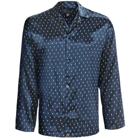 Perry Ellis Silk Lounge Shirt - Long Sleeve (For Men)