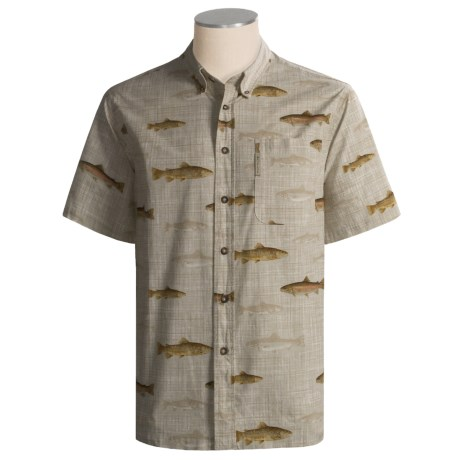 I enjoy shirts with fish prints review of columbia for Fish print shirt
