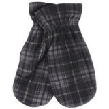 PT Sportswear Plaid Fleece Mittens (For Women and Youth)