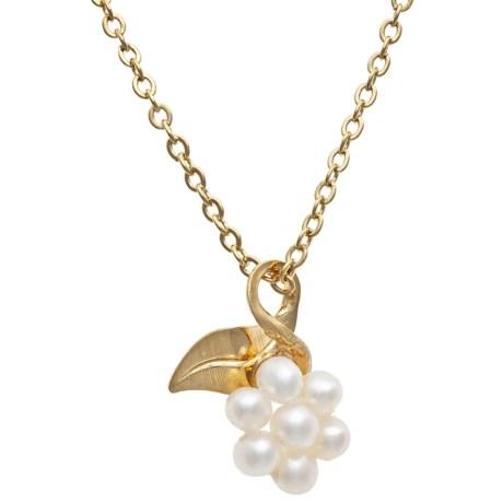 Jokara Cluster Pearl Pendant Necklace