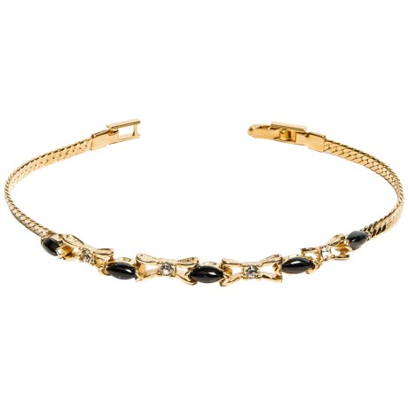Jokara Black Onyx and Cubic Zirconia Bracelet