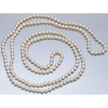 """Jokara 48"""" Endless Freshwater Pearl Necklace"""