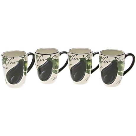 Certified International Melanzana Mugs - Set of 4, 20 fl.oz.