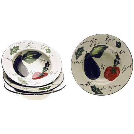 Certified International Melanzana Pasta Bowls - Set of 4