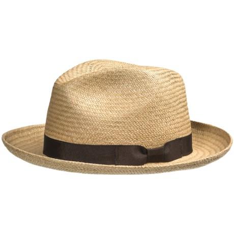 Peter Grimm Panama Fedora Hat - Palm Leaf Straw (For Men)