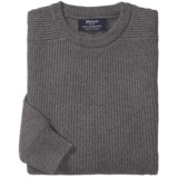 Johnstons of Elgin Ribbed Lambswool Sweater (For Men)