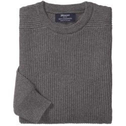 Johnstons of Elgin Ribbed Lambswool Sweater (For Men)