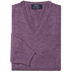 Johnstons of Elgin Cashmere Sweater - V-Neck (For Men)
