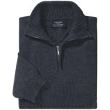 Johnstons of Elgin Cashmere Sweater - Zip Neck (For Men)