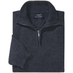 Johnstons of Elgin Cashmere Sweater - Zip Neck (For Men)