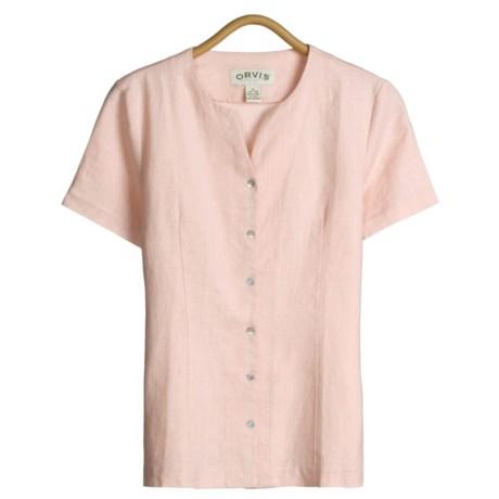 Orvis Shirt - Weskit, Linen, Short Sleeve (For Women)
