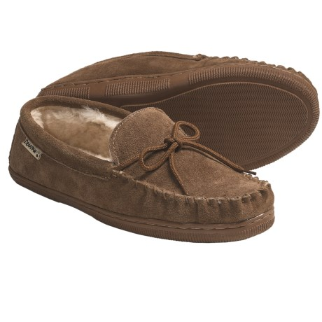 Bearpaw Moc Slippers - Leather, Shearling-Lined (For Men)