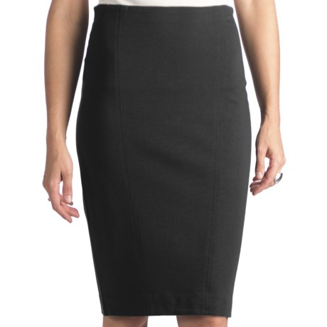 Stretch Rayon Pencil Skirt (For Women)