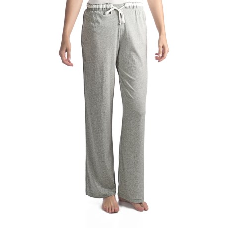 Nicole Miller Solid Satin Drawstring Pants (For Women)