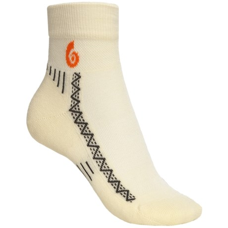 Point6 Cycling Socks - Merino Wool, Lightweight, 3/4 Crew (For Women)