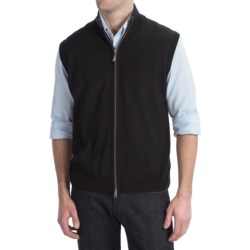 Toscano Zip Tip Vest - Wool Blend (For Men)