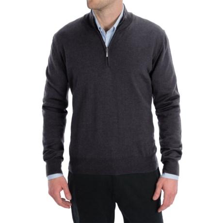 Toscano Zip Mock Neck Sweater - Merino Wool (For Men)
