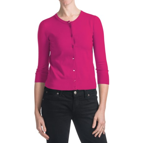 Spense Knits Crew Neck Cardigan Sweater - Button Front, Long Sleeve (For Women)