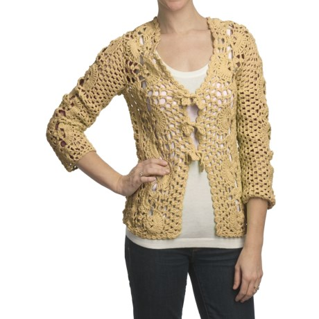 Pure Handknit Kata Cardigan Sweater - Tie Front (For Women)
