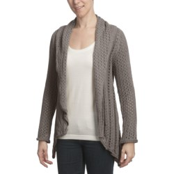 Pure Handknit Asha Cocoon Cardigan Sweater - Open Front (For Women)