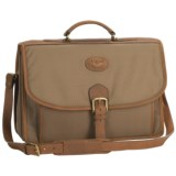 Aston Ballistic Canvas Briefcase - Leather Trim