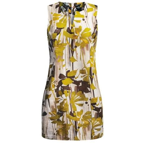 Womyn Cotton Jacquard Dress - Sleeveless (For Women)