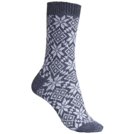 b.ella Allover Snowflake Socks - Lambswool-Angora (For Women)