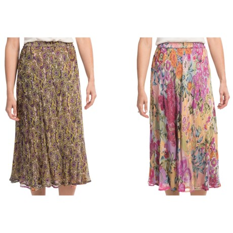 Indira Reversible Crepe Skirt (For Women)