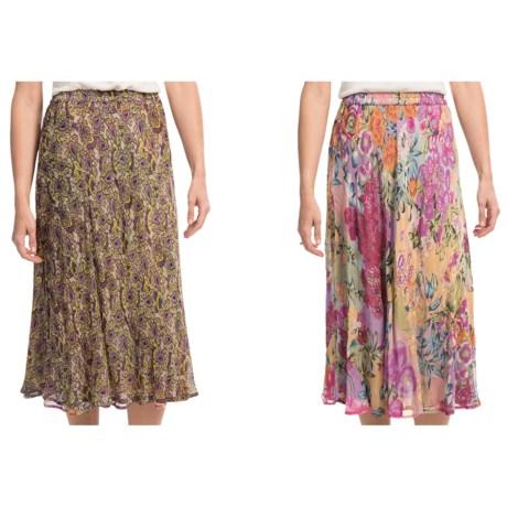 Indira Reversible Crepe Skirt (For Women)