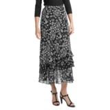 Indira Tiered Crepe Skirt (For Women)