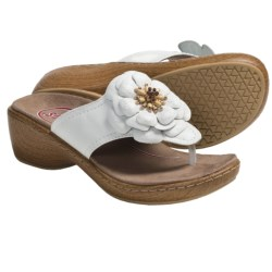 Klogs Aloha Thong Sandals - Leather (For Women)