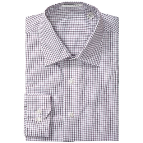 Patterned Slim Fit Dress Shirt - Long Sleeve (For Men)